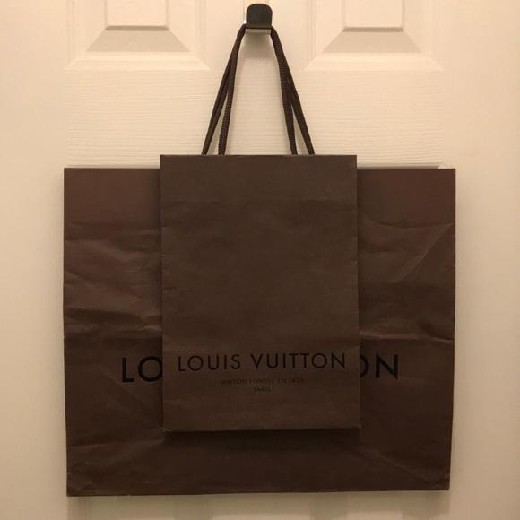 Classic Brown Louis Vuitton shopping bags